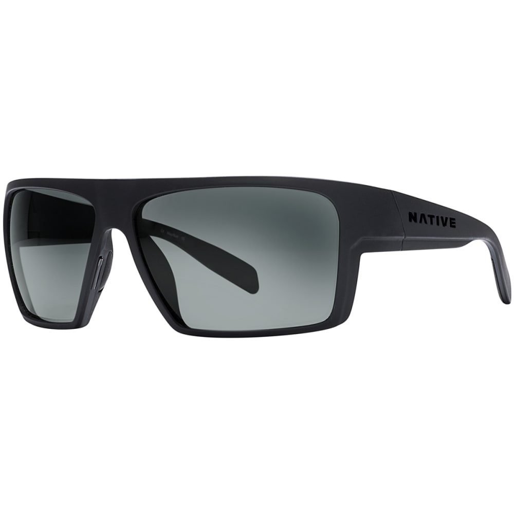 NATIVE EYEWEAR Eldo with Blue Reflex Lens Sunglasses - BLACK/GRAY/BLACK