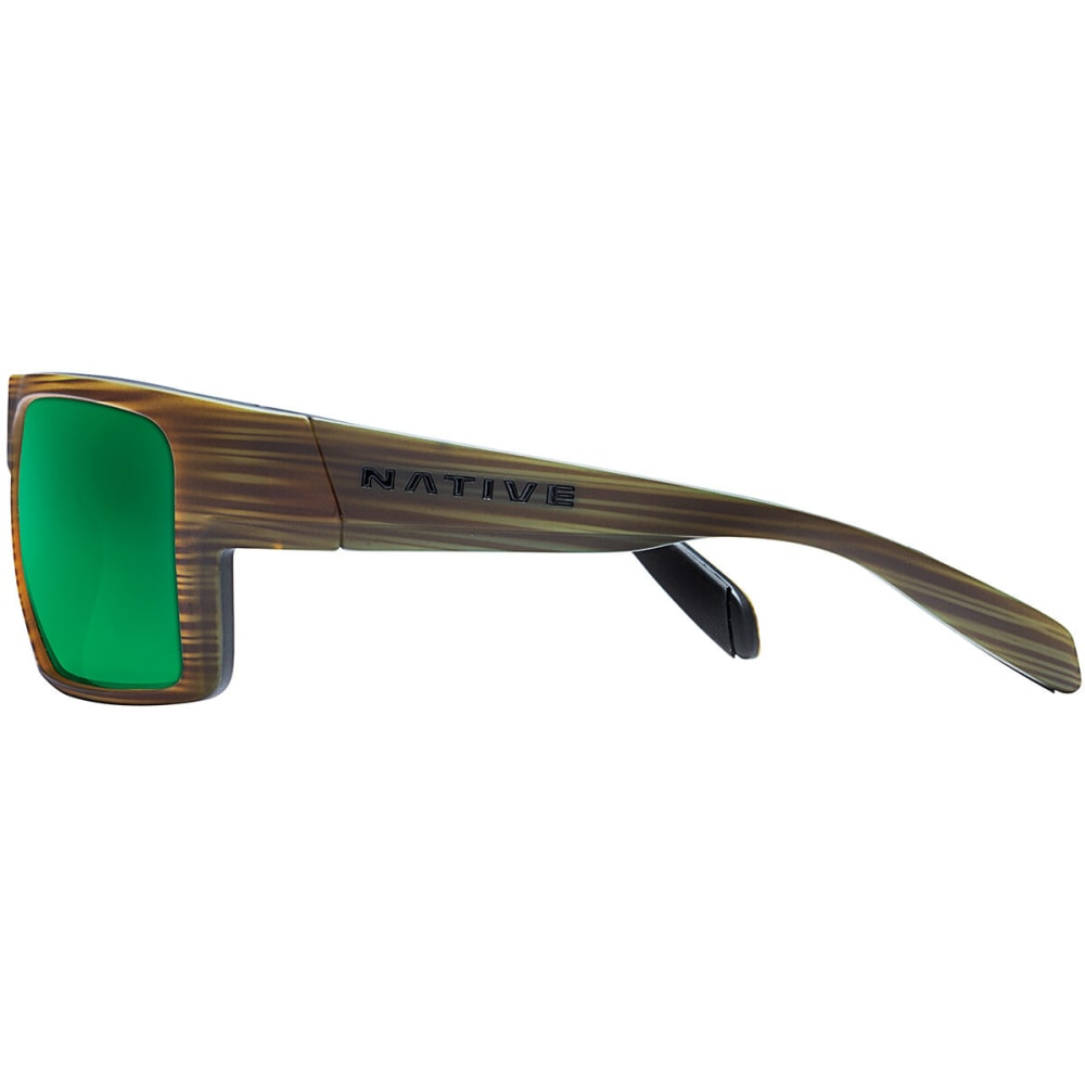 NATIVE EYEWEAR Eldo Polarized Sunglasses - WOOD/BLACK/BLACK