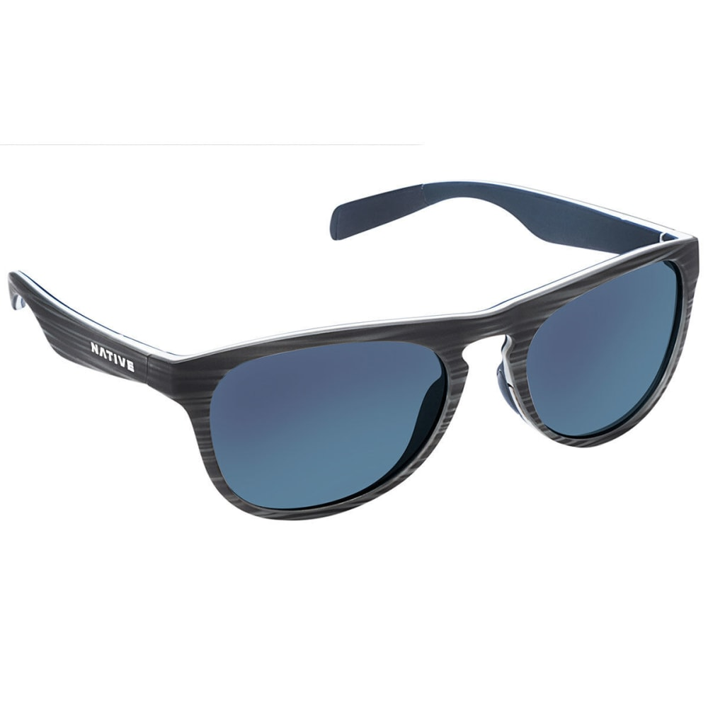 NATIVE EYEWEAR Sanitas Sunglasses, Driftwood/Blue Reflex - DRIFTWOOD/WHITE/BLUE