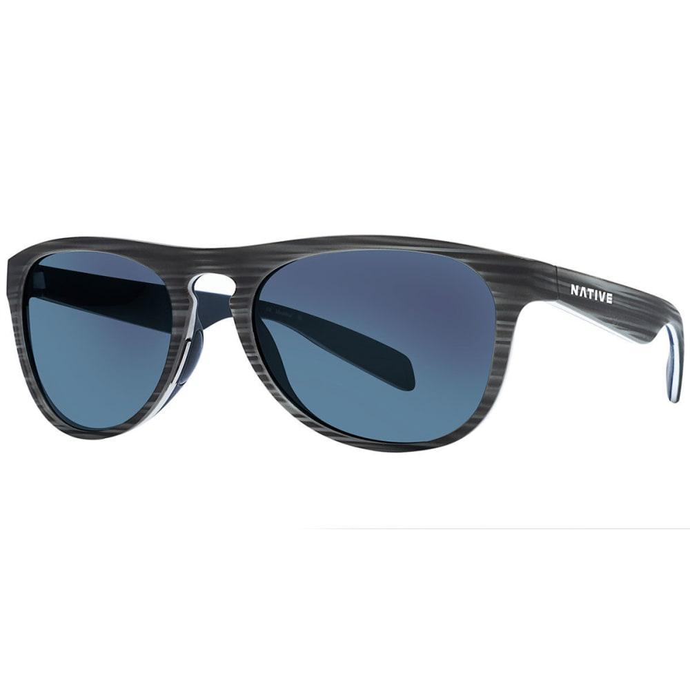 NATIVE EYEWEAR Sanitas Sunglasses, Driftwood/Blue Reflex - DRIFTWOOD/WHITE/BLUE