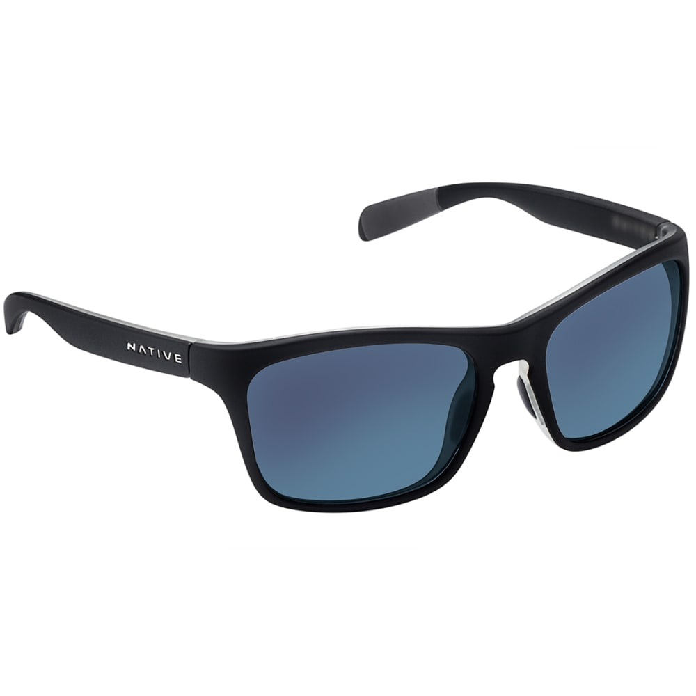 NATIVE EYEWEAR Penrose Asphalt with Blue Reflex Lens Sunglasses - BLACK/CRYSTAL/CRYSTA