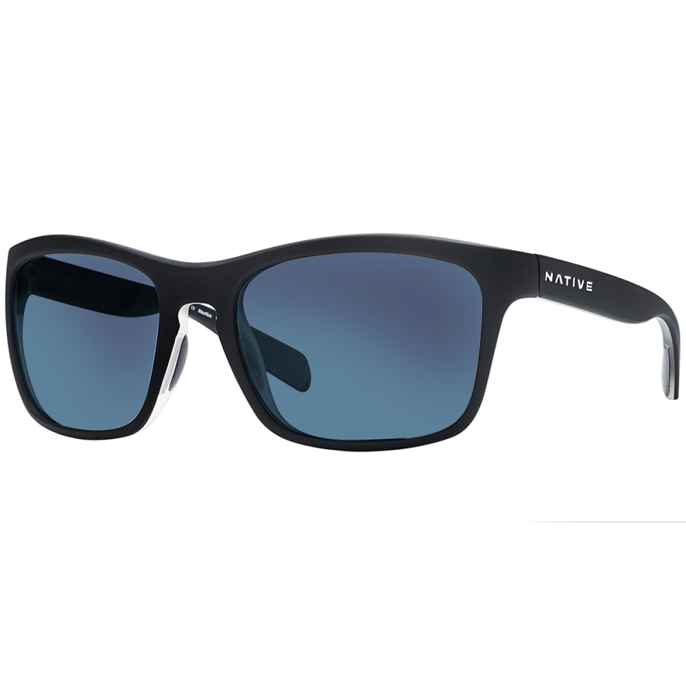 NATIVE EYEWEAR Penrose™ Asphalt with Blue Reflex Lens Sunglasses - BLACK/CRYSTAL/CRYSTA