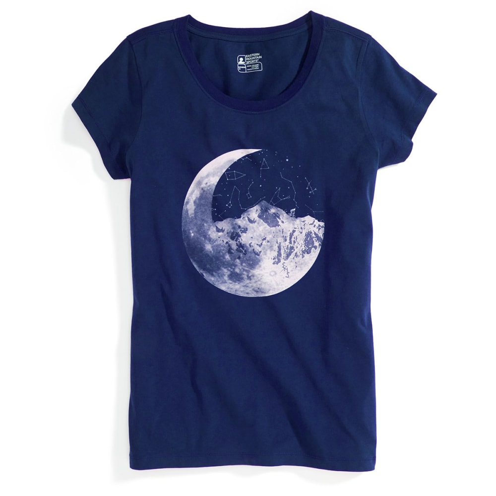 EMS® Women's Ride Moon Mountain Graphic Tee - BLUE DEPTHS