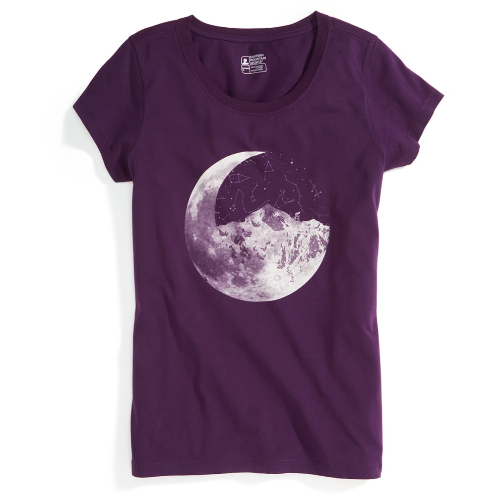 EMS® Women's Ride Moon Mountain Graphic Tee - BLACKBERRY CORDIAL