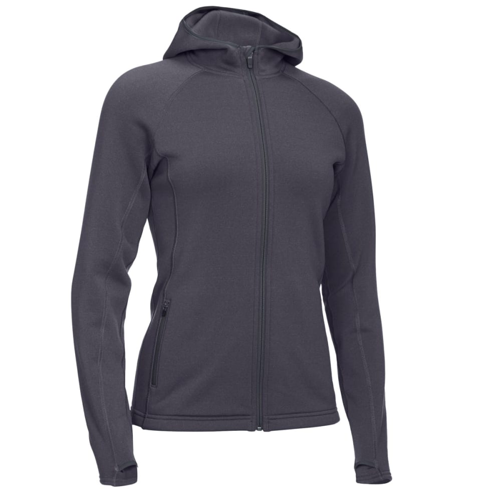 EMS® Women's Equinox Power Stretch Hoodie - EBONY HEATHER