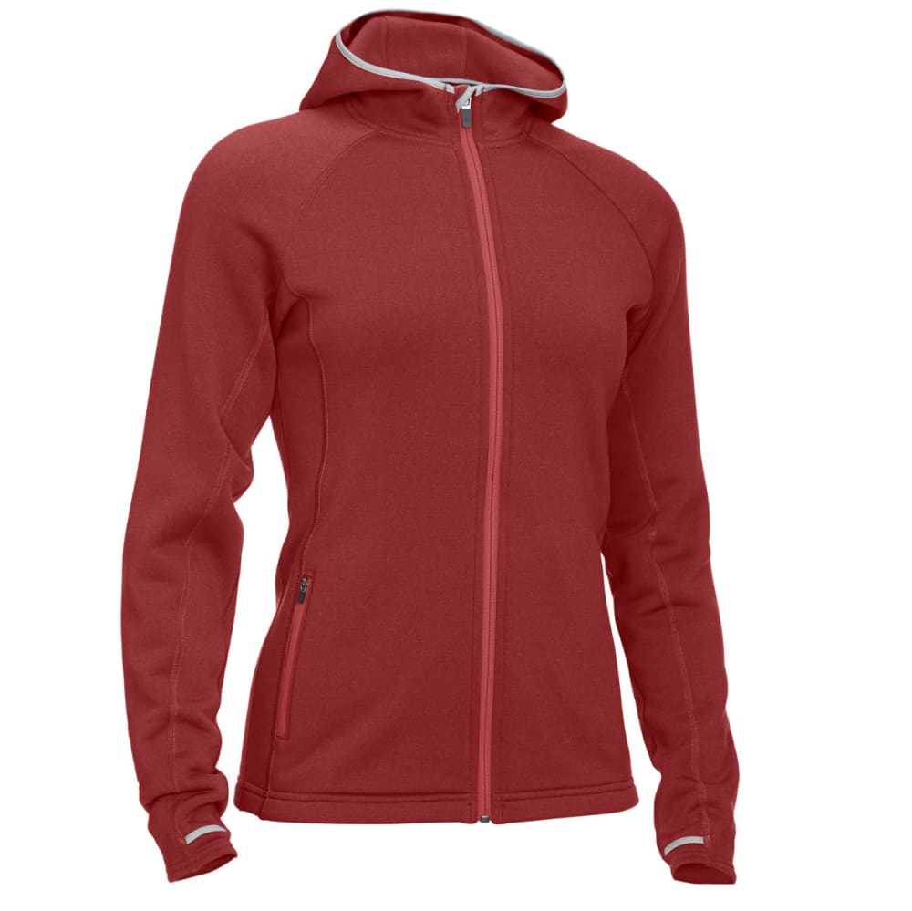 EMS® Women's Equinox Power Stretch Hoodie - BRICK HEATHER