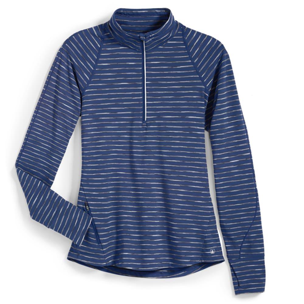 EMS® Women's Techwick® Transition  ½ Zip - Stripe - ENSIGN BLUE
