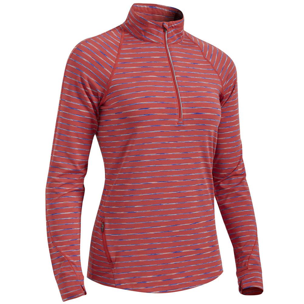 EMS® Women's Techwick® Transition  ½ Zip - Stripe - BAKED APPLE