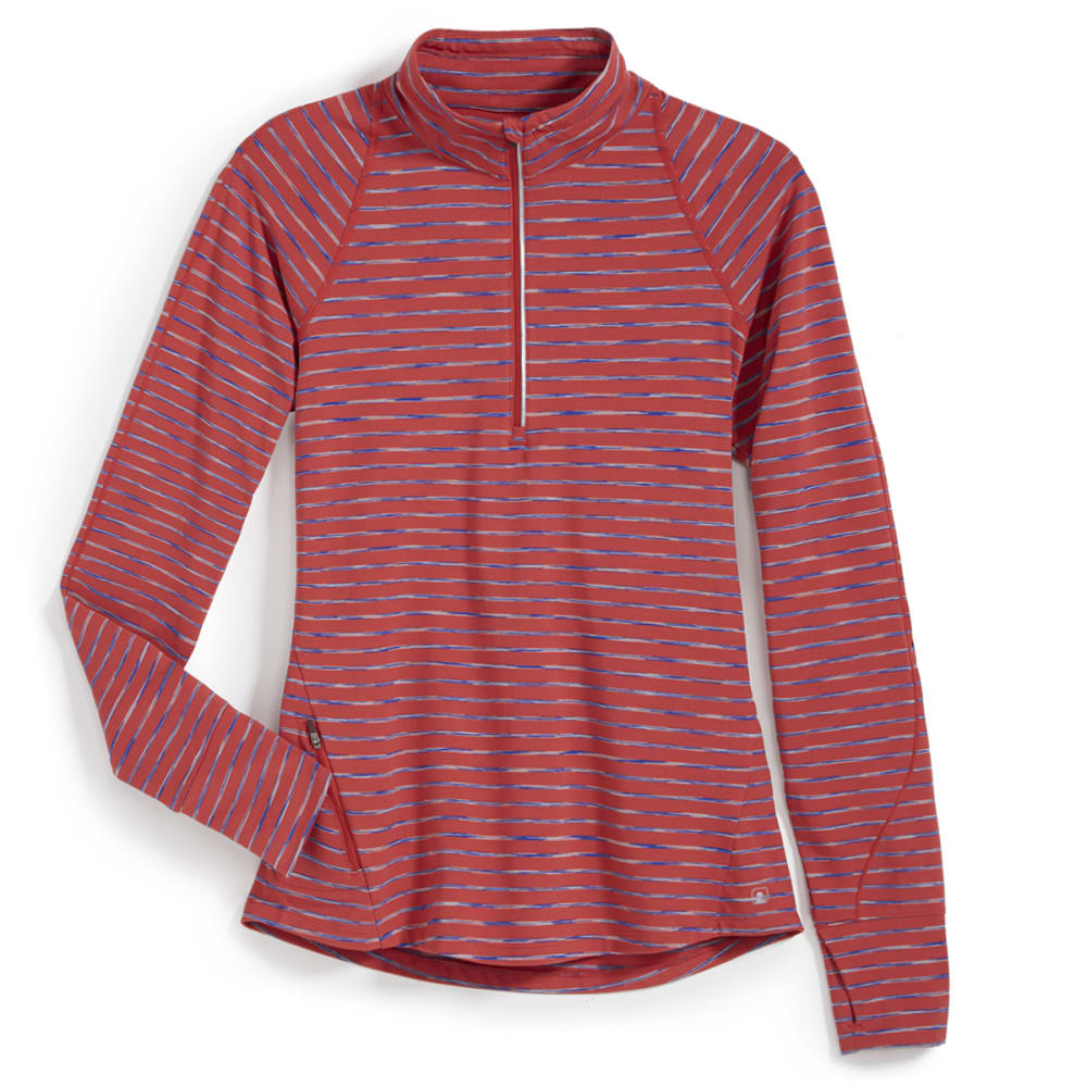 EMS® Women's Techwick® Transition  ½ Zip - Stripe - BAKED APPLE
