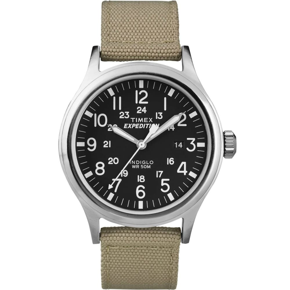 TIMEX Expedition Watch - TAN/SILVER