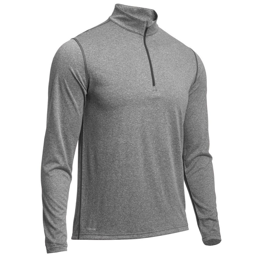 EMS® Men's Techwick® Essentials  ¼ Zip - CHARCOAL HTR
