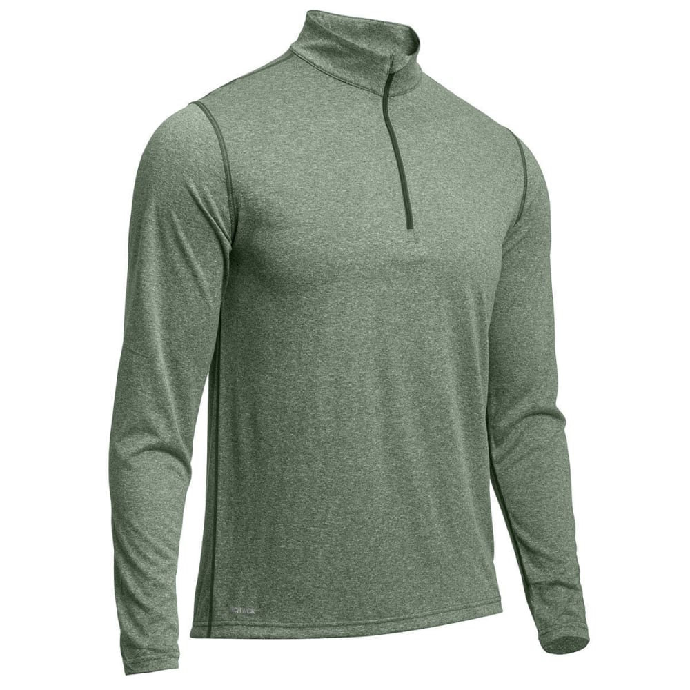 EMS® Men's Techwick® Essentials  ¼ Zip - FOREST NIGHT HTR