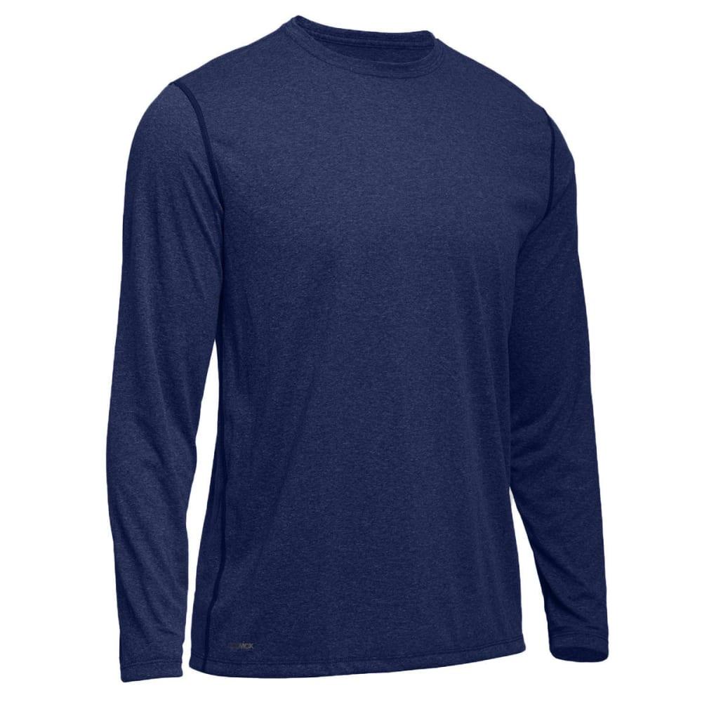 EMS® Men's Techwick® Essentials Long-Sleeve Crew - NAVY BLAZER HTR