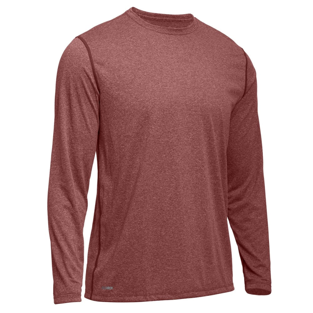 EMS® Men's Techwick® Essentials Long-Sleeve Crew - FIRED BRICK HTR
