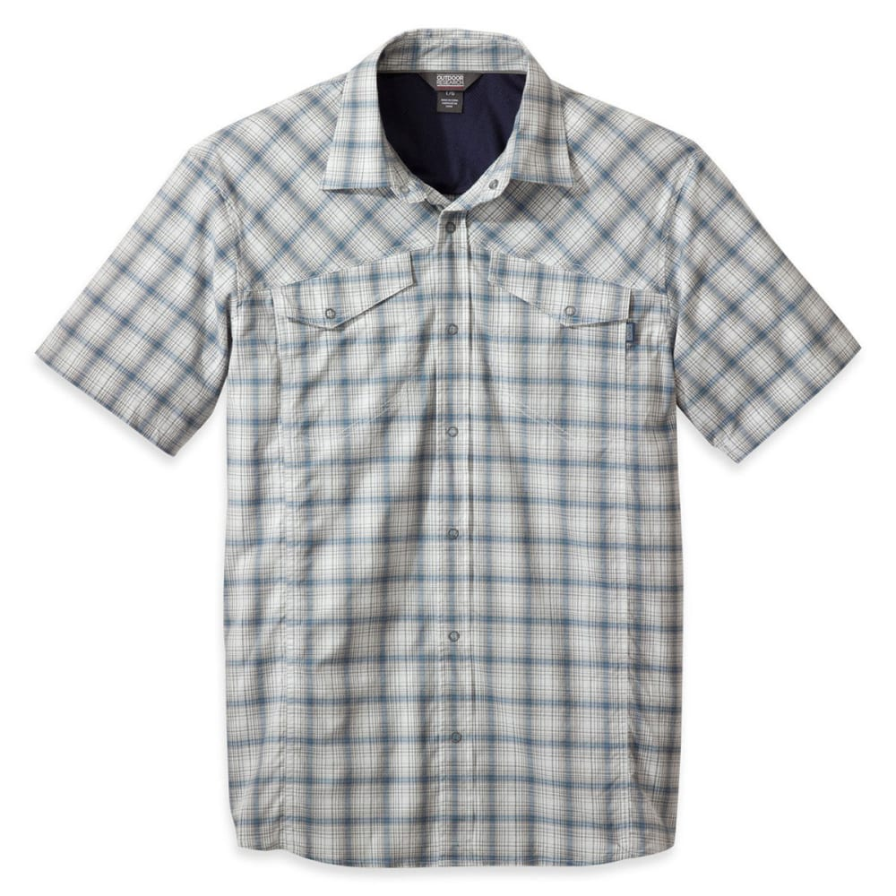 OUTDOOR RESEARCH Men's Pagosa Short-Sleeve Shirt - ICE
