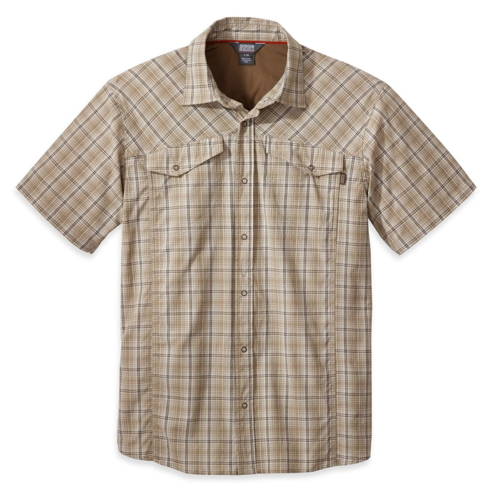 OUTDOOR RESEARCH Men's Pagosa Short-Sleeve Shirt - CAFE