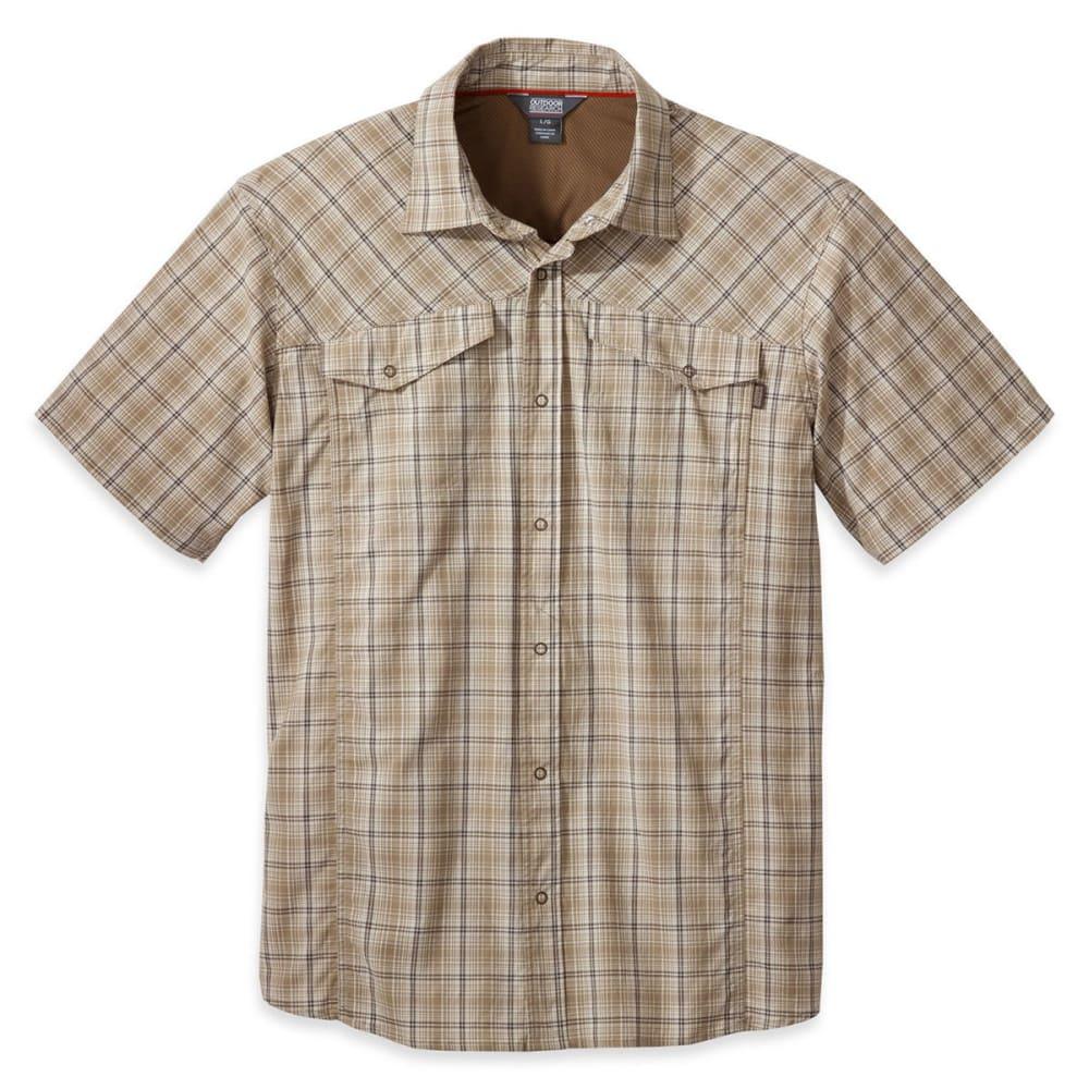 OUTDOOR RESEARCH Men's Pagosa Short-Sleeve Shirt - CAFE
