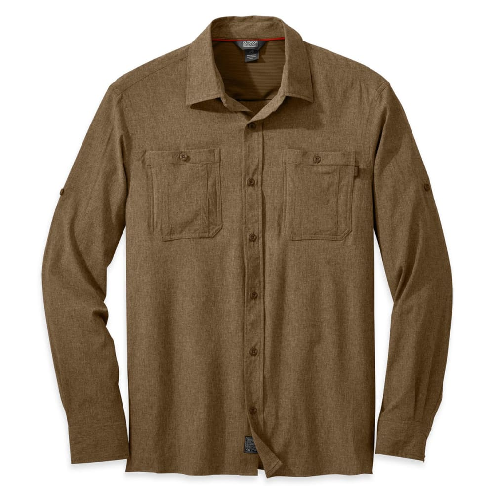 OUTDOOR RESEARCH Men's Wayward Long-Sleeve Shirt - COYOTE