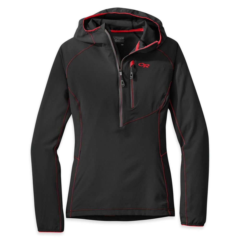 OUTDOOR REAEARCH Women's Whirlwind Hoody™ - BLACK/CHARCO