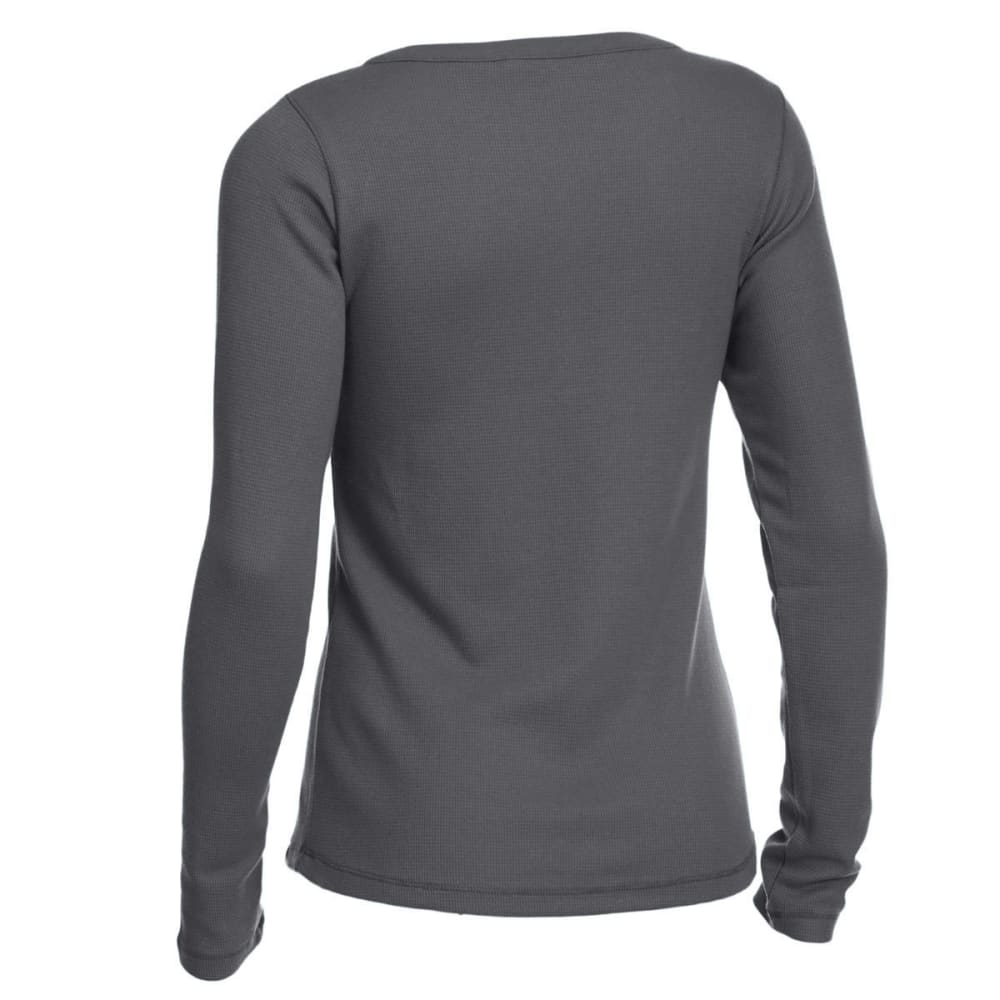 EMS Women's Lakeside Waffle Henley Long-Sleeve Tee - CASTLE ROCK