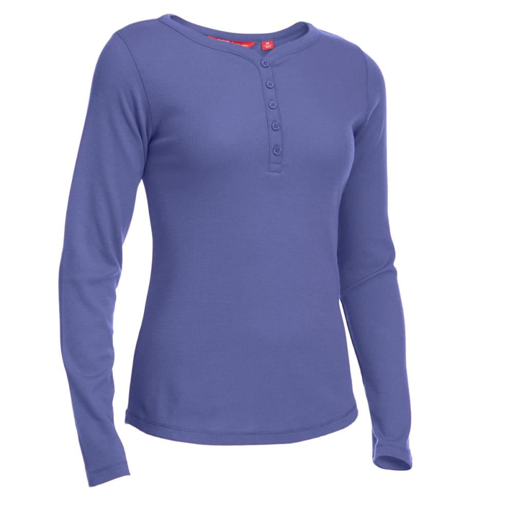 EMS® Women's Lakeside Waffle Henley Long-Sleeve Tee - CROWN BLUE