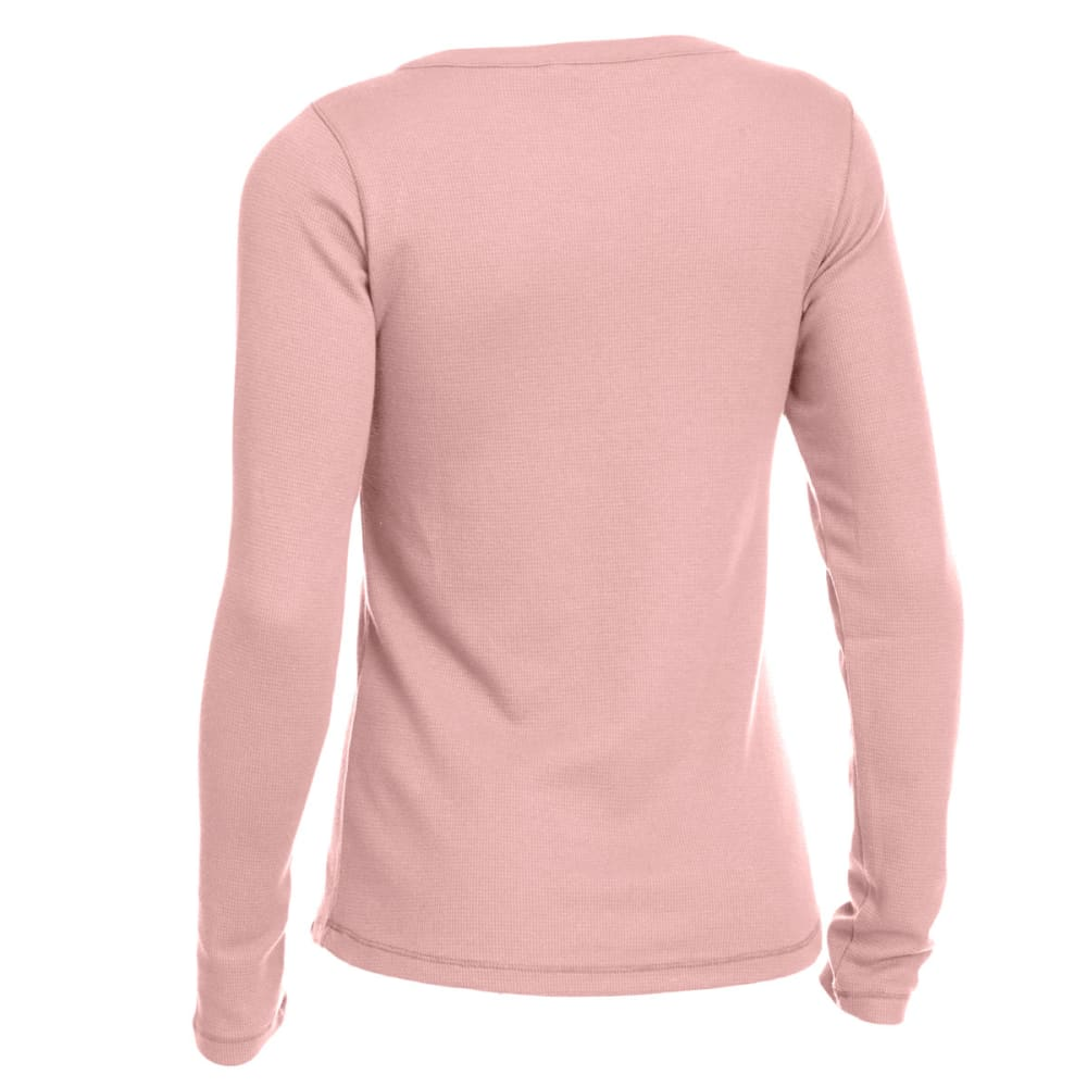 EMS® Women's Lakeside Waffle Henley Long-Sleeve Tee - ASH ROSE
