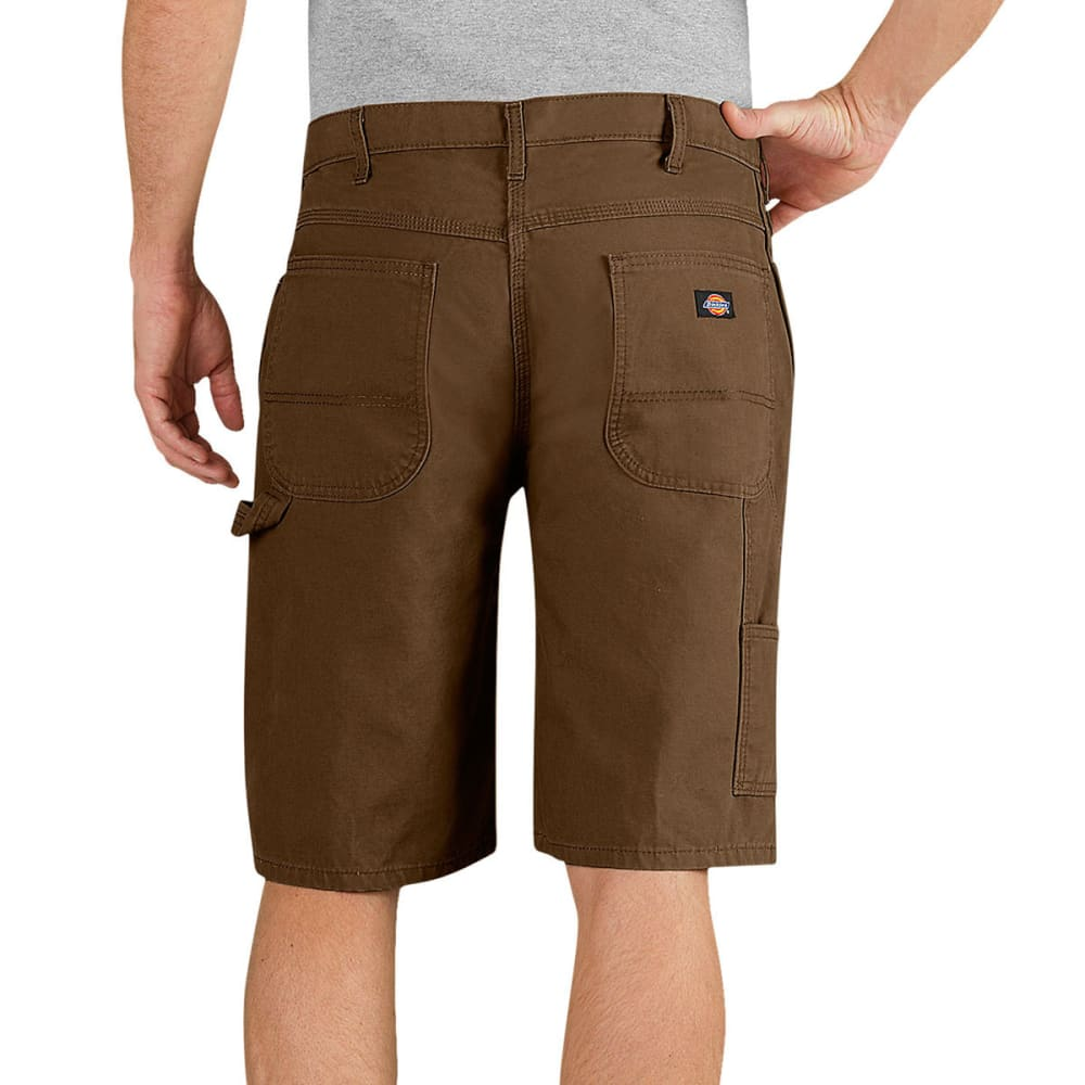 DICKIES Men's 11 in. Relaxed Fit Lightweight Duck Carpenter Shorts - RTB TIMBER