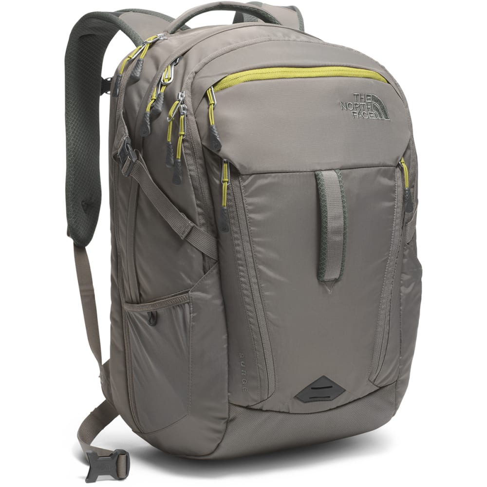 THE NORTH FACE Surge Backpack - FUSEBOX GREY/GRN-JZF