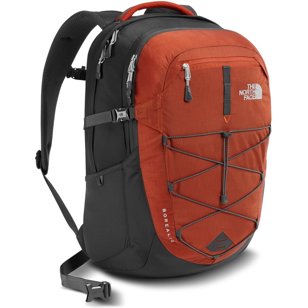 THE NORTH FACE Men's Borealis Backpack  - KETCHUP RED/GREY