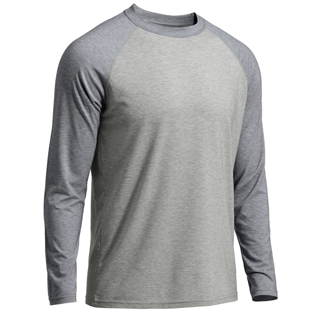EMS® Men's Techwick® Millstone Raglan Long-Sleeve Shirt - NAVY BLAZER /NEUTRAL