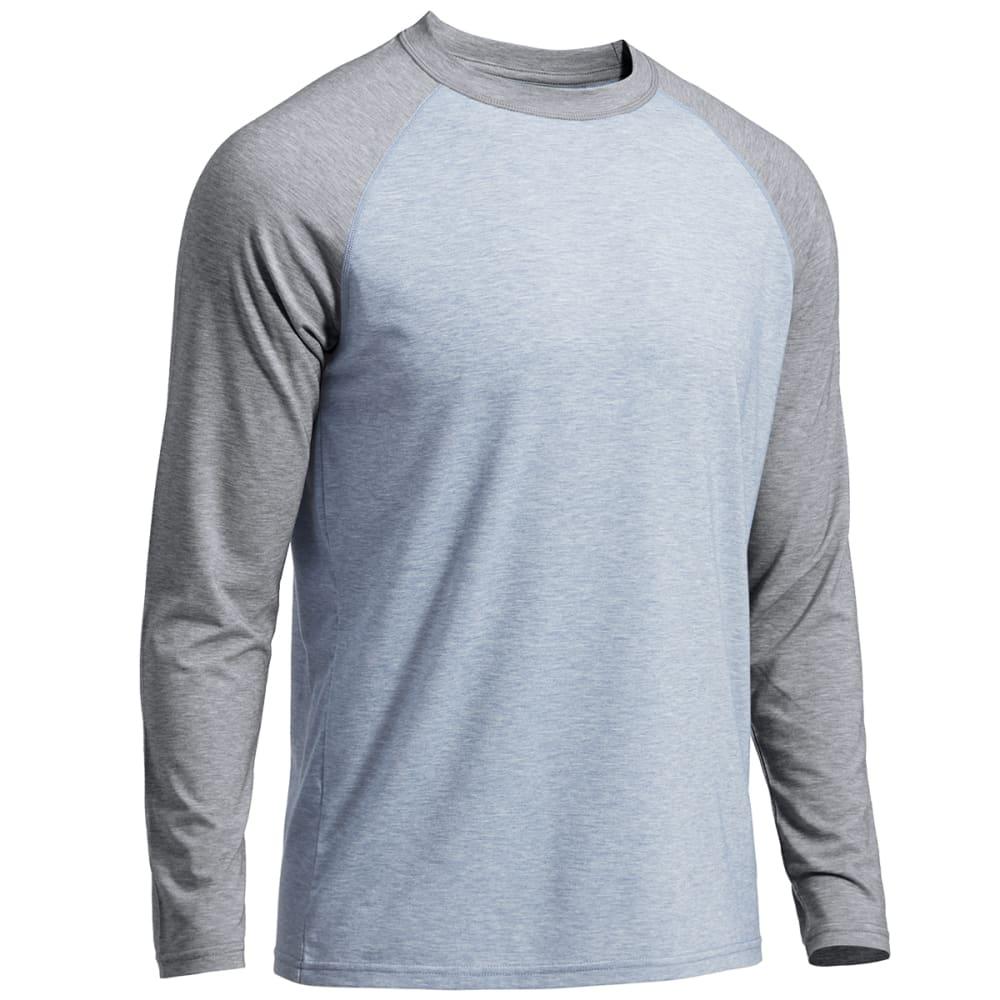 EMS® Men's Techwick® Millstone Raglan Long-Sleeve Shirt - FADED DENIM/NAVY BLA