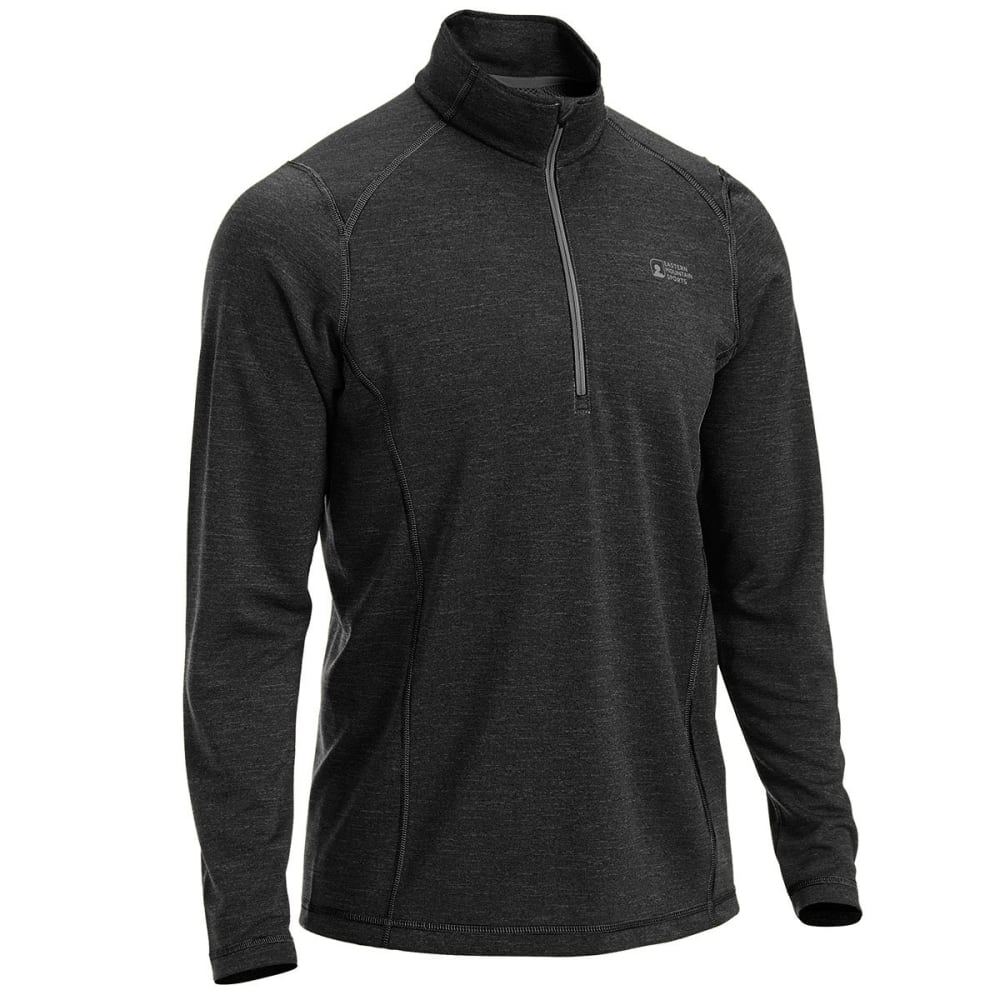 EMS Men's Techwick Dual Thermo  ½  Zip - JET BLACK
