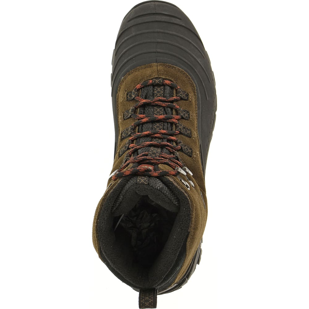 MERRELL Men's Icerig Clip Shell Boots, Dark Earth - DARK EARTH/RED OCHRE