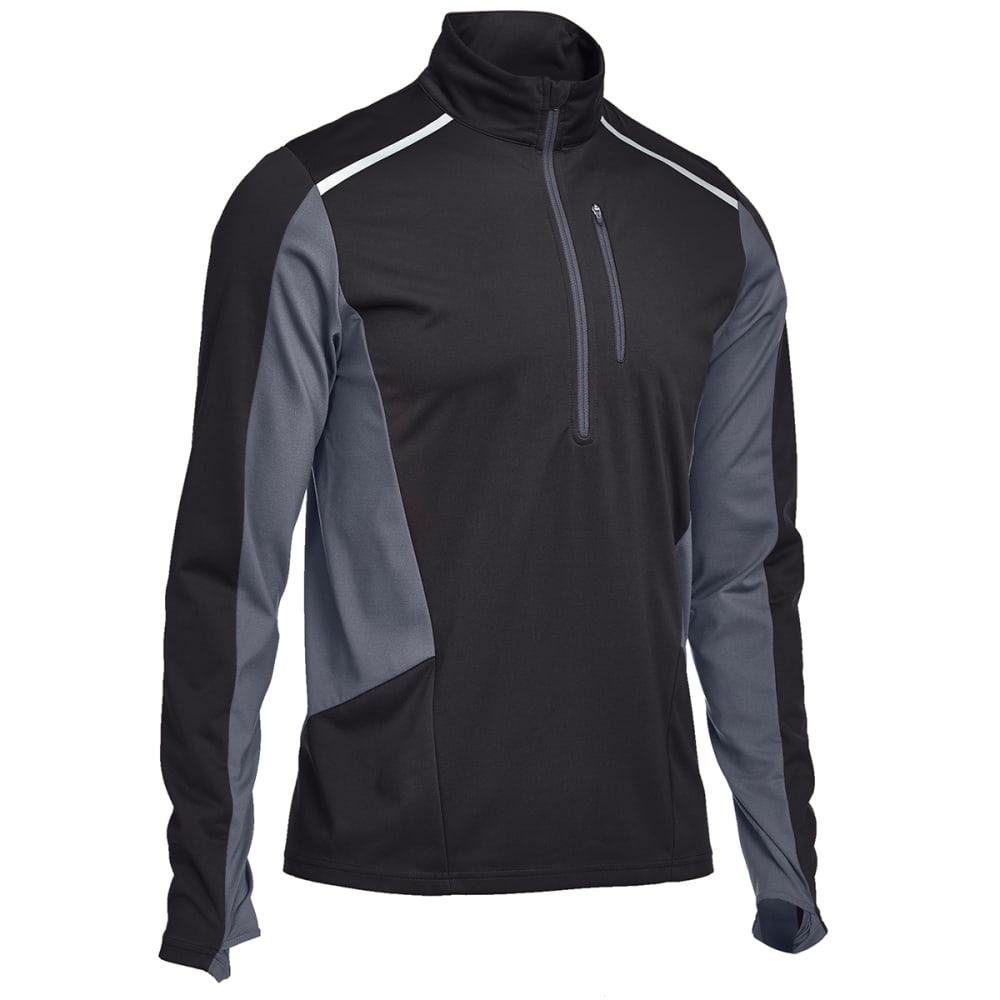 EMS® Men's Techwick® Northshield Wind ½ Zip Pullover - BLACK/EBONY