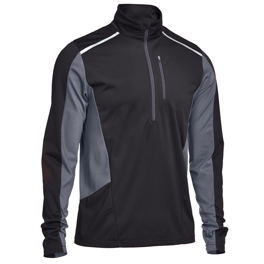 EMS® Men's Techwick® Northshield Wind ½ Zip Pullover - BLACK/EBONY