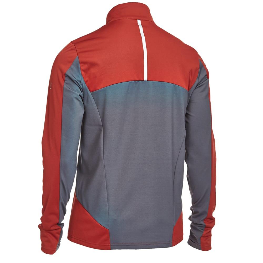 EMS® Men's Techwick® Northshield Wind ½ Zip Pullover - FIRED BRICK/EBONY