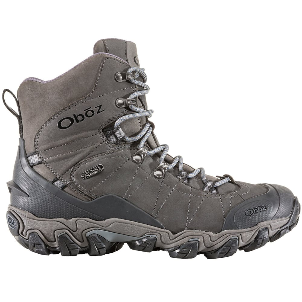 OBOZ Men's 8 in. Bridger Insulated BDry Hiking Boots - DARK SHADOW