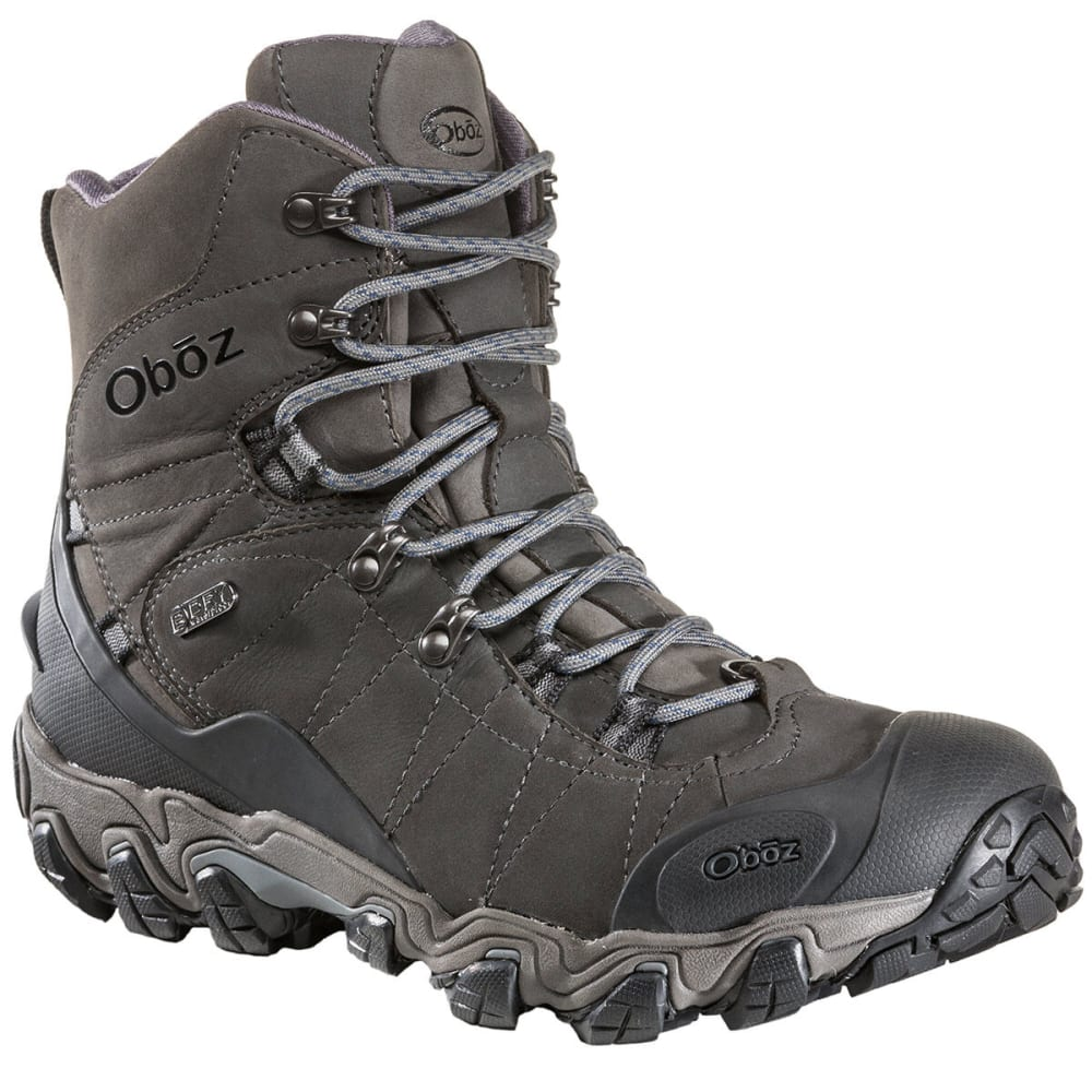 Oboz Men's 8 In. Bridger Insulated Bdry Hiking Boots - Black 82001 DK SHADOW