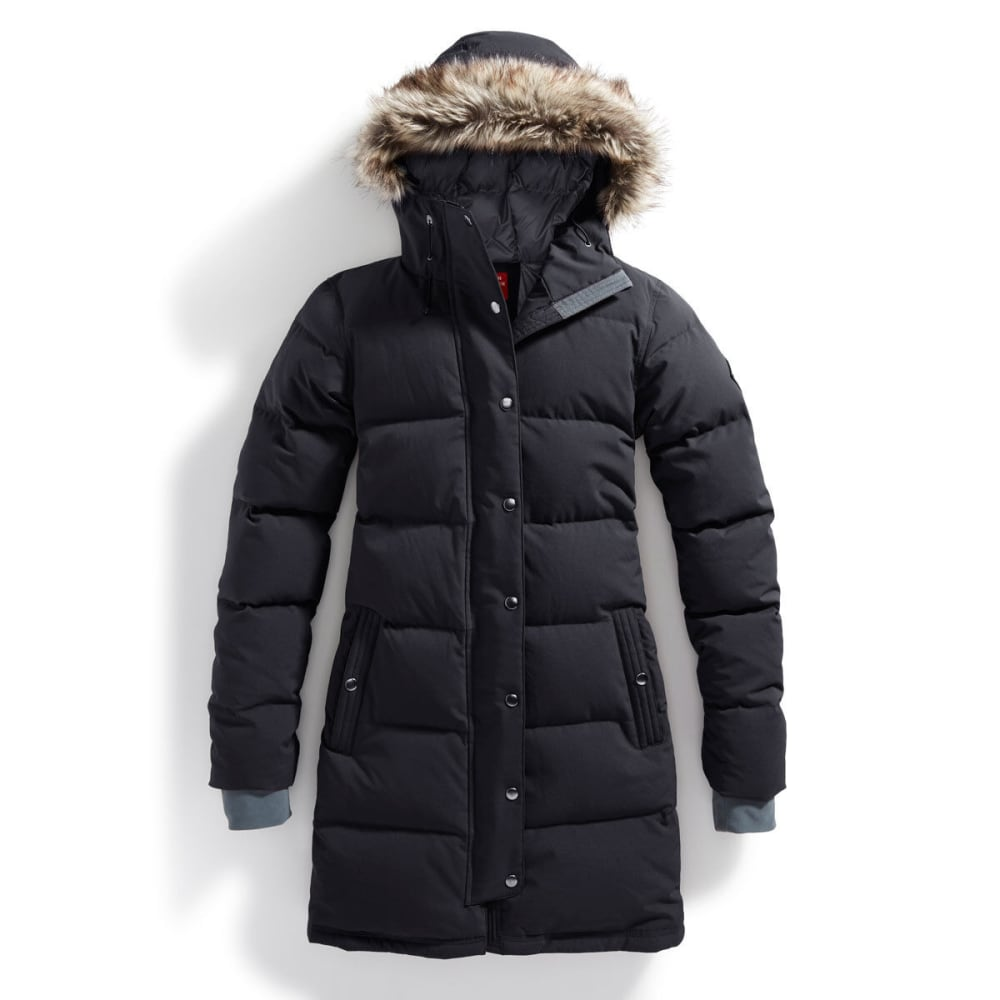 EMS® Women's Klatawa Long Down Jacket - BLACK/HIGH RISE