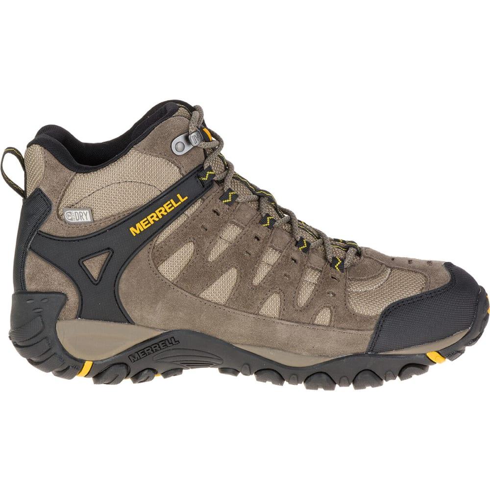 MERRELL Men's Accentor Waterproof Mid Hiking Boots, Boulder ...