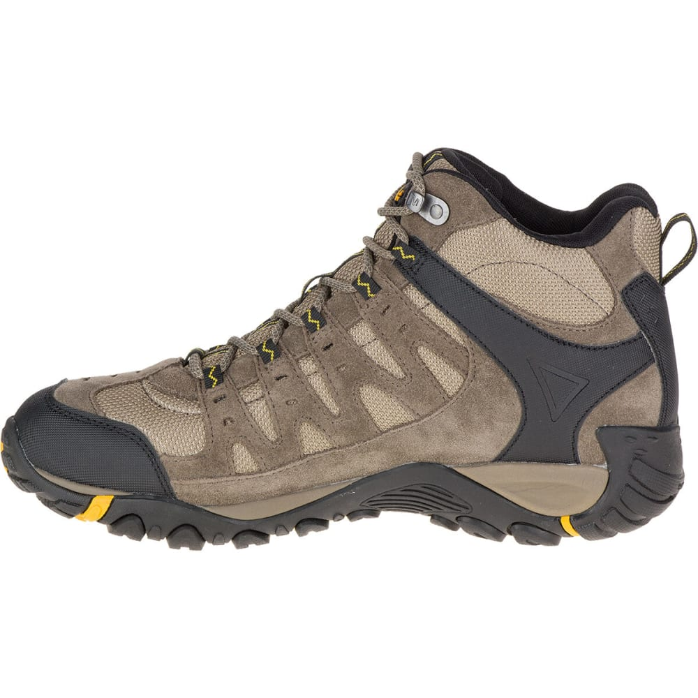 MERRELL Men's Accentor Waterproof Mid Hiking Boots, Boulder - BOULDER/OLD GOLD