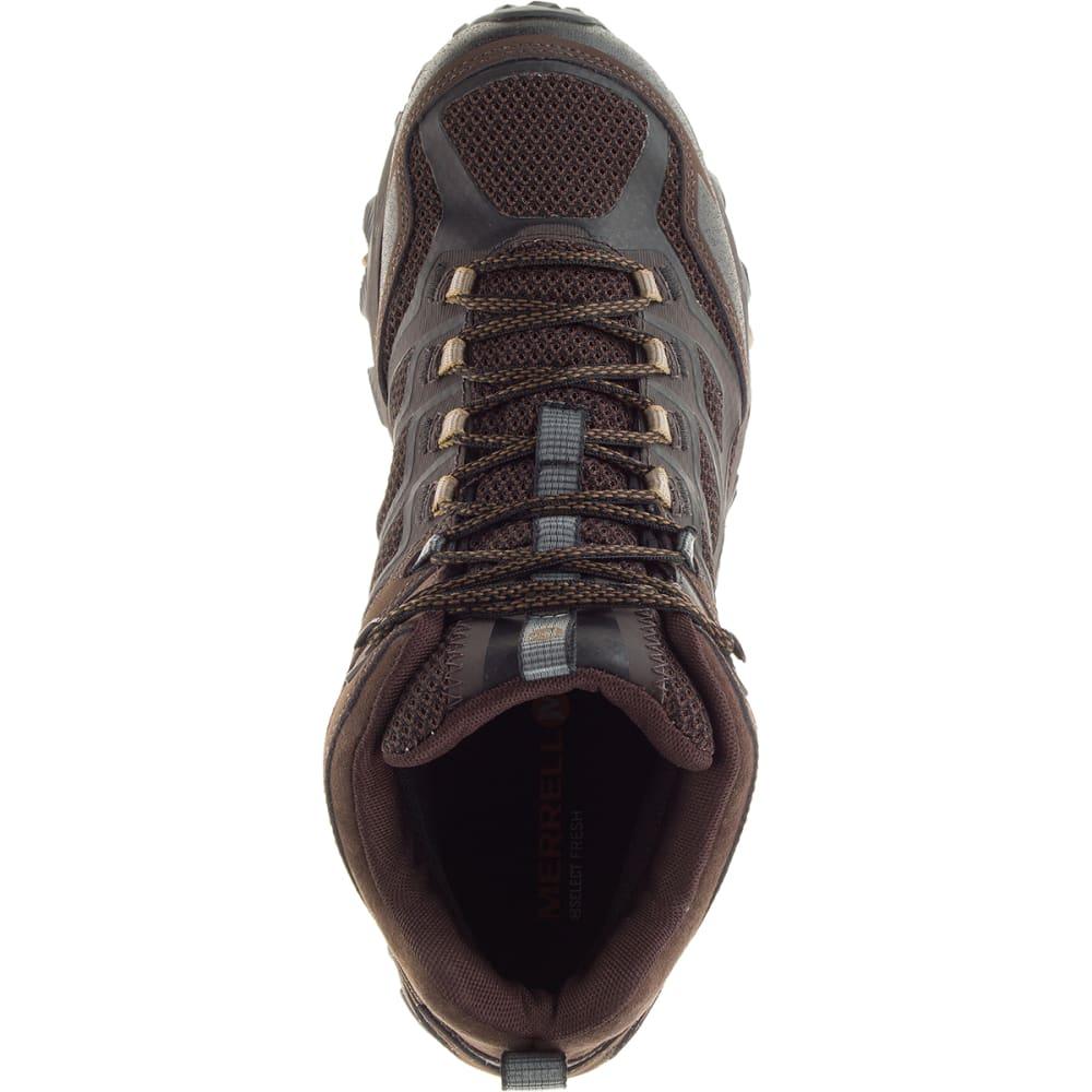 MERRELL Men's Moab FST Mid Waterproof Boots, Brown - BROWN
