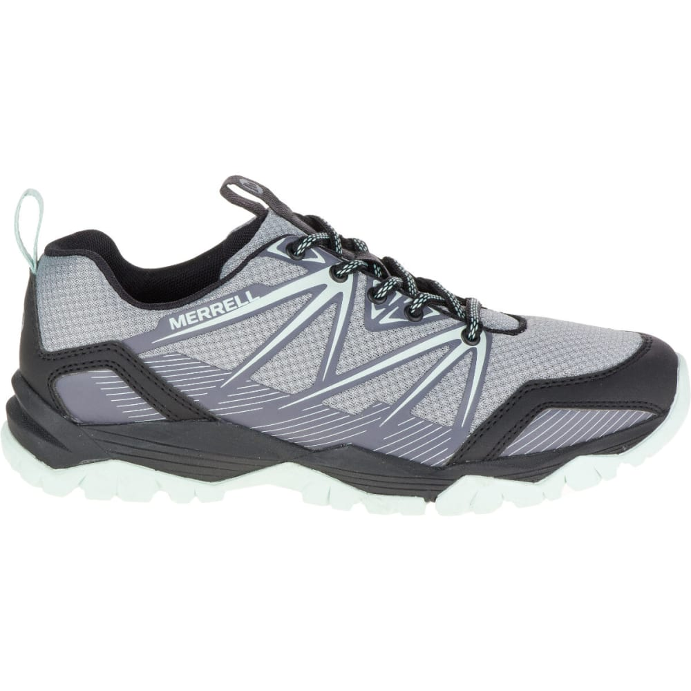 MERRELL Women's Capra Rise Hiking Shoe, Monument - MONUMENT