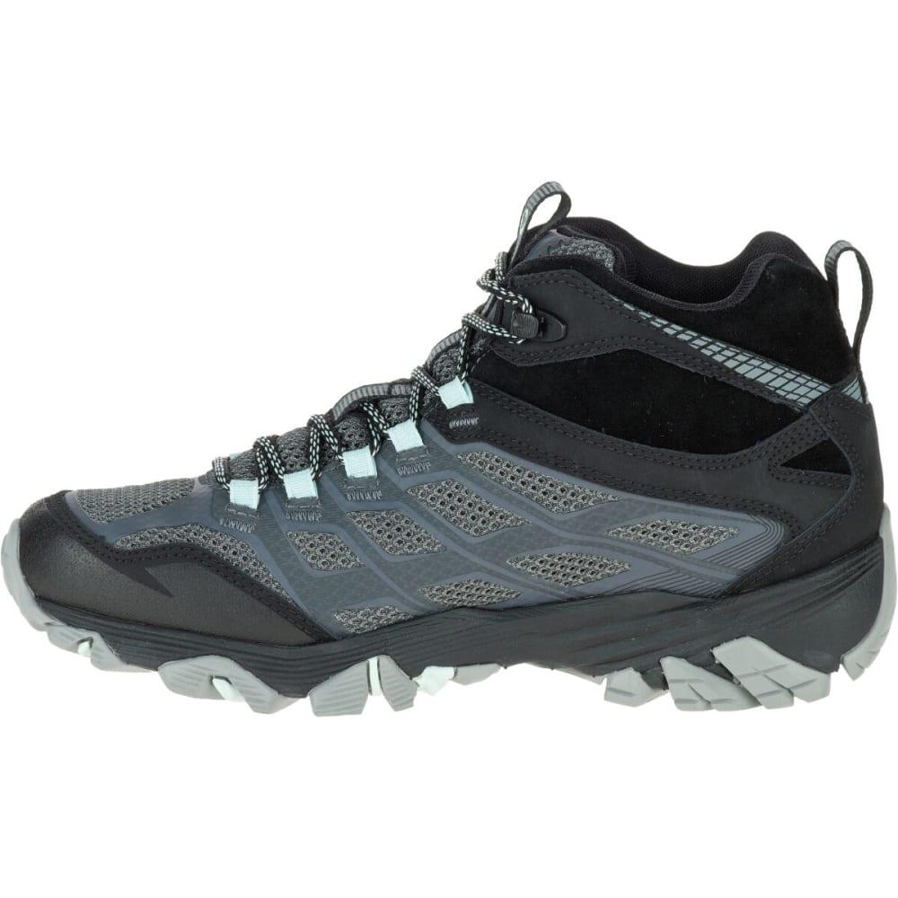 MERRELL Women's Moab FST Mid Waterproof Boots, Granite - GRANITE