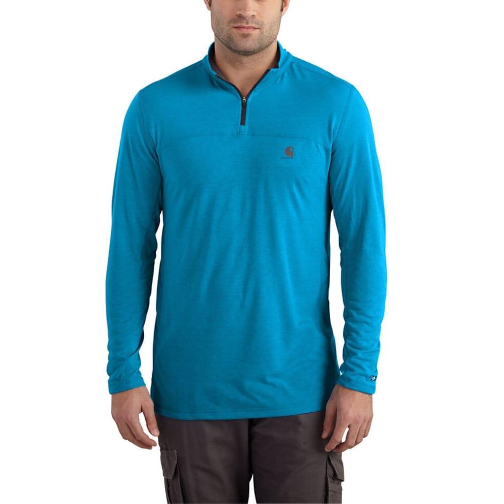 CARHARTT Men's Force Extremes 1/4-Zip Long-Sleeve Shirt - 427 DYNAMIC BLUE