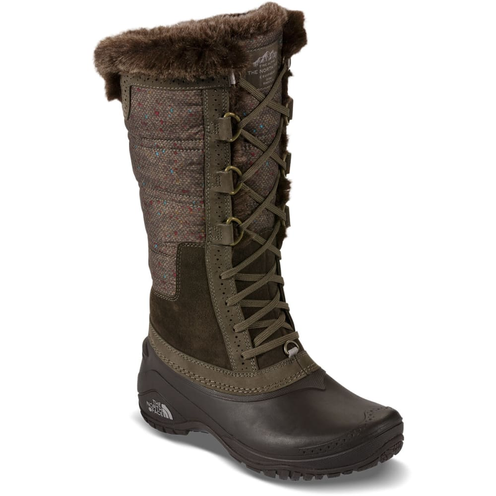 THE NORTH FACE Women's Shellista II Tall Boots, Weimaraner Brown - WEIMARANER BROWN/DGR