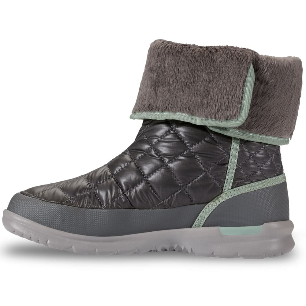 THE NORTH FACE Women's Thermoball Button-Up Boots, Shiny Smoke Pearl Grey - PEARL GREY/SUBTLE GR