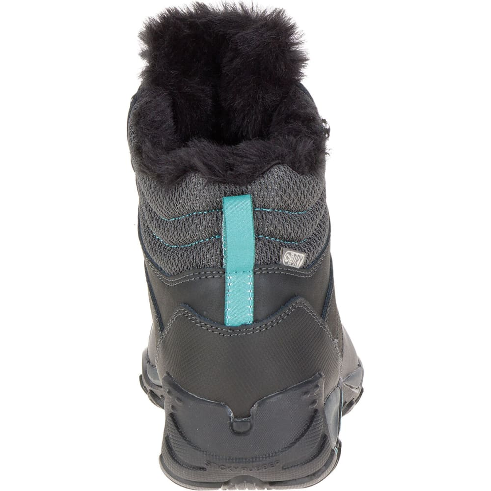 MERRELL Women's Atmost Mid Waterproof Boots, Black - BLACK/BRITTANY BLUE