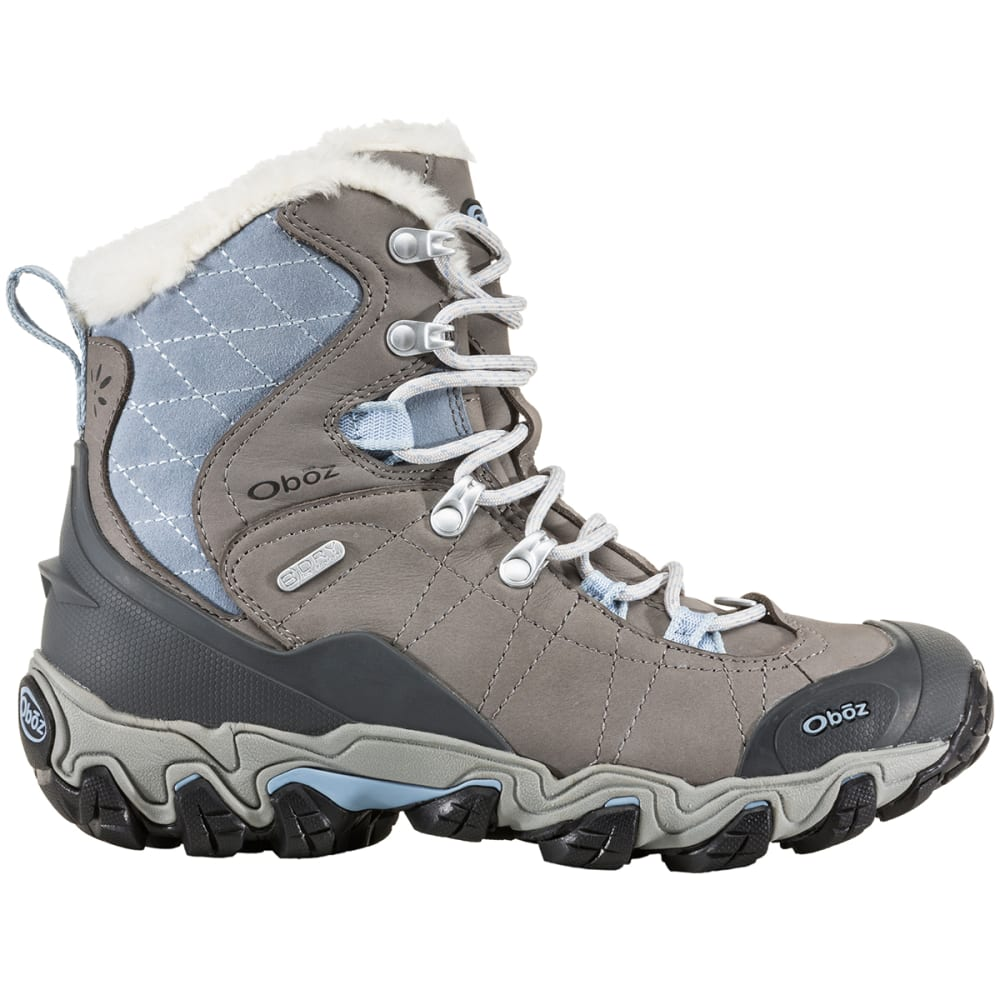 "OBOZ Women's 7"" Bridger BDry Hiking Boots, Gray - GRAY"