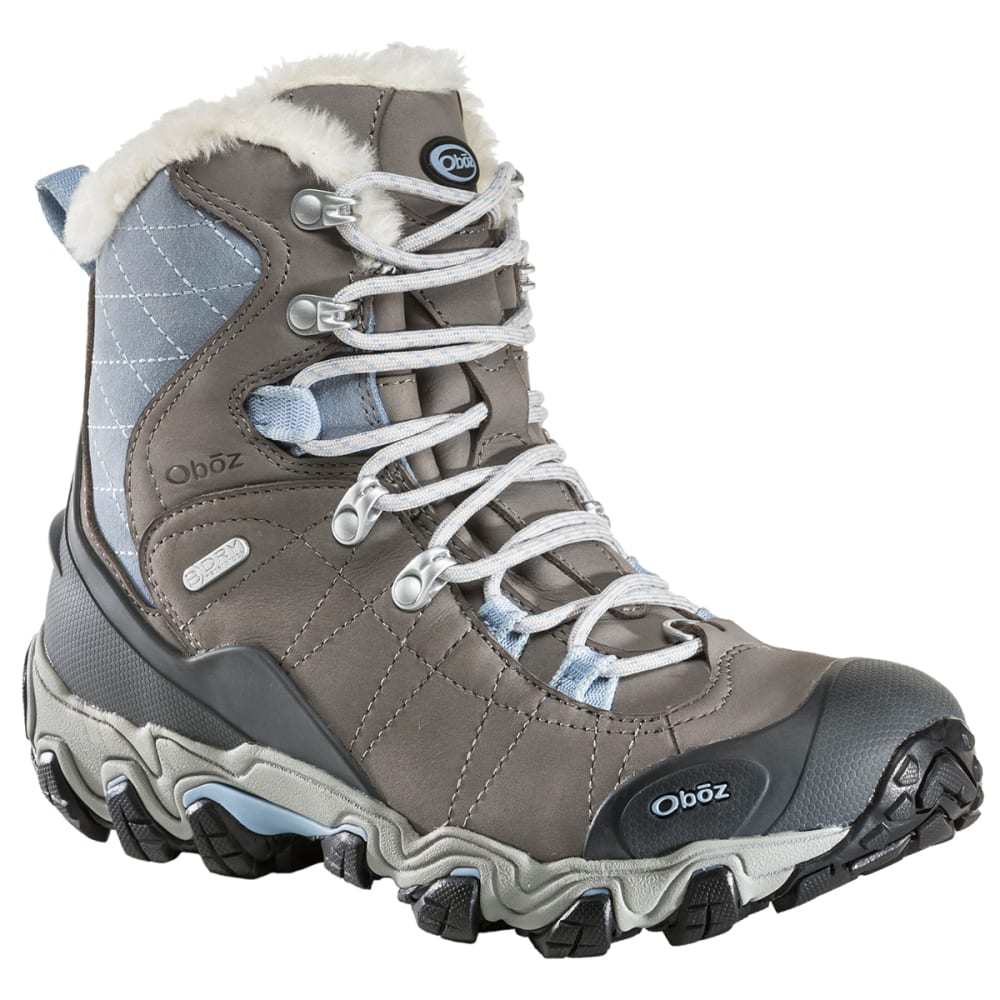 "OBOZ Women's 7"" Bridger BDry Hiking Boots, Gray - GRAY"